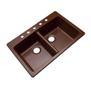 Mont Blanc Kitchen Sink 5-hole Double Bowl Rust-stain Resistant Sound Dampening
