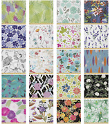 Ambesonne Design Botanical Microfiber Fabric By The Yard For Arts And Crafts