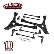 10pc Front Suspension Kit Lower Control Arms Sway Bar Link For 98-07 Ford Taurus