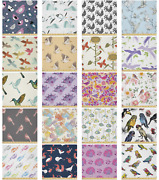 Ambesonne Bird Pattern Microfiber Fabric By The Yard For Arts And Crafts