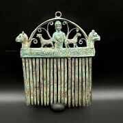 Antique Collectable Vintage Jewelry Hair Bronze Comb Ancient Byzantine Empire
