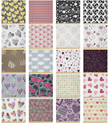Ambesonne Heart Print Microfiber Fabric By The Yard For Arts And Crafts