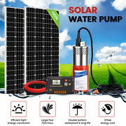 2195w Mono Solar Panel+24v Deep Well Submersible Water Pump For Farm Irrigation