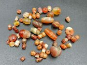 Antique Old Carnelian Agate Jewelry Trade Beads Necklace Ancient Romanand039s