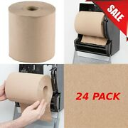 24/case 8 600and039 Standard Duty Brown Towel Paper Commercial Dispenser Kraft Roll