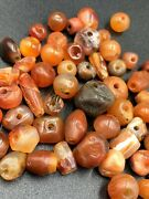 Ancient Romans Culture Trade Jewelry Antique Carnelian Agate Beads Necklace Lot
