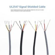 20awg Ul2547 Pvc Insulated Multicores Shielded Wires Tinned Copper Cable-5meter