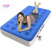 Camping Airbed W/ High Speed Pump Inflatable Mattress Travel Air Bed Twin Size