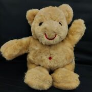 Vintage Ms. Noah Brown Teddy Bear 14 Plush Made In Usa Authentic Fur Toy Flaw