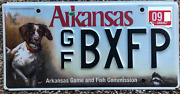 Expired Arkansas Pointer Dog Hunting Fishing Game And Fish License Plate 2009 Rare