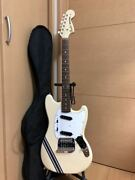 Fender Japan Mg73 Co Owh Mustang Olympic White 2006-2008 Model With Gig Bag