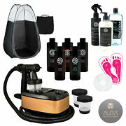 Allure Spray Tan Machine With Sjolie Airbrush Tanning Solution And Pro Kit Tent