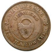 1838-39 Low-324a Ht-212a New York Patterson Brothers Hard Times Token