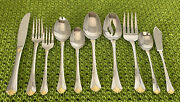 New 45 Pc Towle Santa Barbara Gold Stainless Flatware Set 8 Place Setting In Box