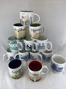 Lot 13 Excellent Starbucks City Coffee Mugs 2006-2018 Barista Collector Cities