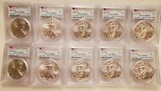 Lot Of 10 - 2015 W 1 Silver Eagle Pcgs Ms69 First Day W/ Pcgs Storage Box