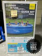 Summer Waves 15ft X 36in Quick Set Inflatable Pool W/filter Pump ✅free Shipping✅