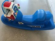 Little Tikes Rocking Police Motorcycle Rocker W/lights Sounds Rare And Htf