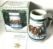 1993 Budweiser Holiday Stein Special Delivery 01850028 Beer Mug With Coa And Box