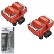 2 Pack Engine Ignition Coil And Grease For Ford 2.0l 5.0l 2.5l 4.6l 2.3l 1.9l V8