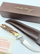 Vintage / Rare Schrade Uncle Henry Usa 162 Skinner Fixed Blade Knife With Papers