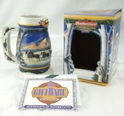 Budweiser 2000 Holiday In The Mountains Beer Stein Mug Collectible Bud And Coa