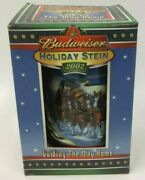 Budweiser 2002 Holiday Stein Guiding The Way Home Christmas Lighthouse With Box