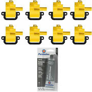8 Pack Energy Ignition Coil And Grease For 2005 Chevrolet 5.7l 8.1l 7.2l 7.4l V8
