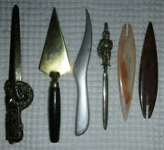 Vintage Letter Openers 6 Lot Assorted Barnum Bailey Circus World Kora Knight Ad