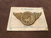 Original 1940's- 1950'svintage Visor St Christopher Auto Guide Ford Chevy Gm Vw