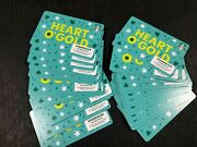 Starbucks Gift Card 2020 Heart Oand039 Gold St. Patricks Day 30x Cards No Value