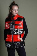 Decorated Vinyl Red And Black Vest Show