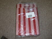 Longaberger, 5 Yards Of Uncut Berry Red Stripe Fabric. New