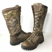 Cabelas Quest Series Gore-tex Mens 11.5d Camouflage Hunting Boots Knee High Gtx
