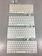Lot 4 Apple Keyboard A1242 Wired Ultra-thin Aluminum - For Parts Only