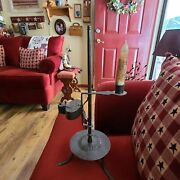 Antique 1800's Betty And Candle Lamp
