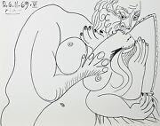 Le Vent Dand039arles 26.11.69.vi By Pablo Picasso Plate Signed Lithograph