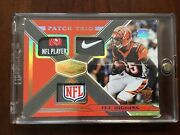 2020 Panini Plates And Patches Tee Higgins Rc One Of One 1/1 Patch Trio