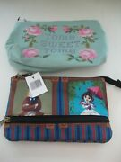Disney Parks Haunted Mansion Stretching Room And Tomb Sweet Tomb Pouch Pouches New
