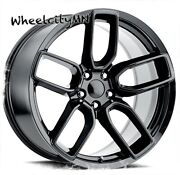 20 X9.5 Gloss Black Dodge Charger Wide Body Oe Replica Wheels Challenger 5x115
