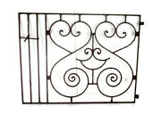 Antique Gate Hinged Hearts Architectural Fence Salvaged Wall Decor Garden