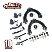 10pcs Front Control Arms Tie Rod Ends Sway Bar Set For 1996-2000 Honda Civic