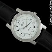 Hermes Carrick Mens Full Size Stainless Steel Automatic Watch - Mint W/ Warranty