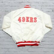 Vintage Deadstock 90s San Francisco 49ers Satin Jacket By Starter Made In Usa