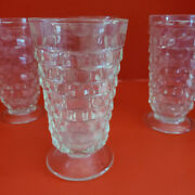 Set Of 4 Fostoria American Cubed Footed 12 Oz Iced Tea Tumblers Free Shipping