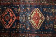 3and0392 X 9 Semi Antique Kurdish Tribal Hand Knotted Oriental Carpet Wool Runner Rug