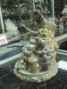 Fairy Lady Noblewoman At The Mirror Ussr Russian Porcelain Figurine Vintag 3097c