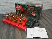 Vintage 1992 Santaand039s Marching Band Musical Bells Mr Christmas Tested And Works