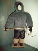 Doll-antique- C.1920- Handmade Inuit First Nations Hudsons Bay-fishingexc.cond.