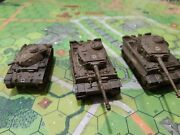 German Tiger Platoon Of 2 Tiger1s And 1 Escort Pz3n Tank, 1/100, 15mm Scale